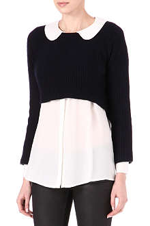 MAJE Dapples cropped jumper