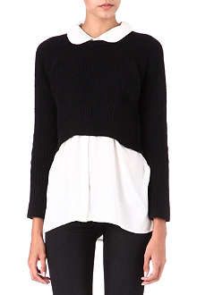 MAJE Shirt and cropped jumper