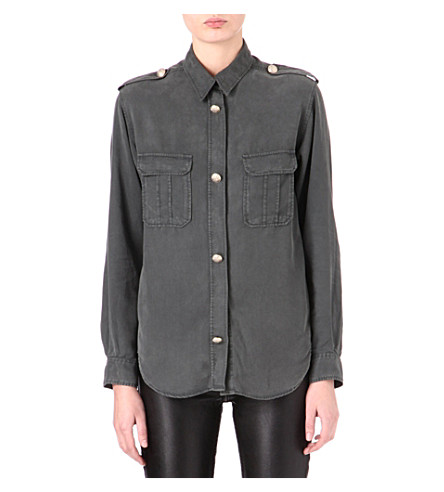 MAJE Dastrid military shirt (Gris