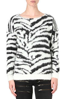 MAJE Zebra knitted jumper