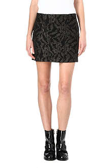 MAJE Metallic jacquard skirt