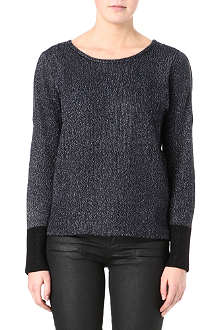 MAJE Lurex zip-detail knitted jumper