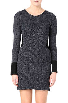 MAJE Lurex zip-detail knitted dress