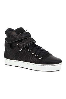 MAJE Dexter leather high-top trainers