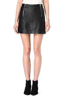 MAJE Diane leather skirt