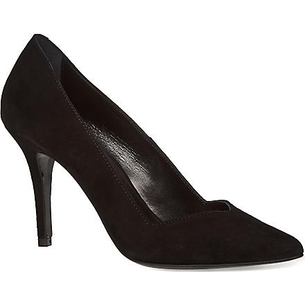 MAJE Suede vintage court shoes (Black