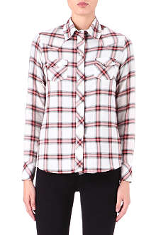 MAJE Dispersio checked shirt