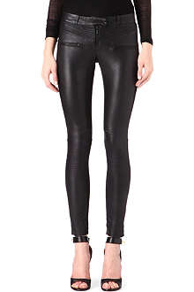 MAJE Leather and elastane leggings