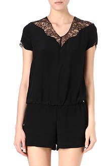 MAJE Lace-panel playsuit