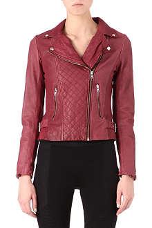 MAJE Dobbie leather biker jacket