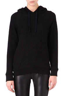 MAJE Embossed knitted hoody