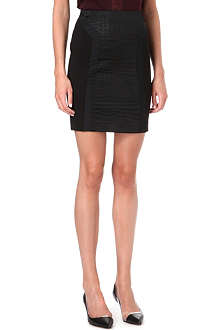 MAJE Donatella croc-panel skirt