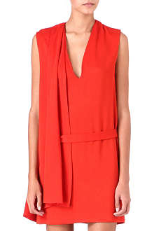 MAJE Draped sleeveless dress