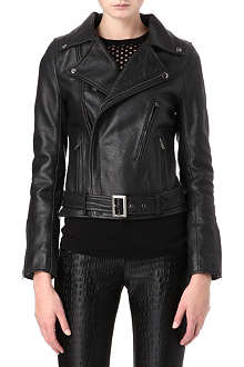 MAJE Celui leather biker jacket