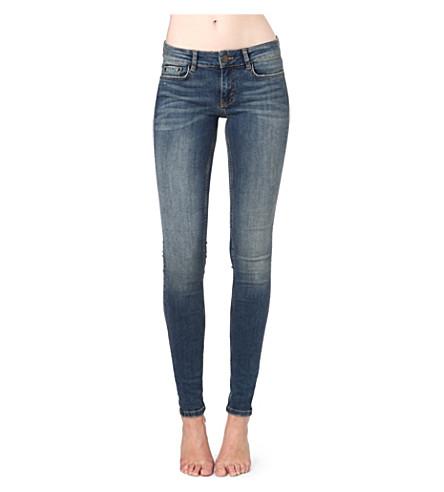 MAJE Robin skinny mid-rise jeans (Bleu