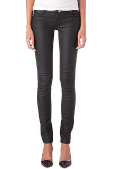 MAJE Coated skinny low-rise jeans