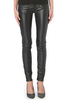MAJE Skinny leather trousers