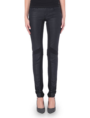 MAJE Moto panel slim jeans