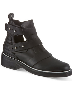 MAJE Leather semi-open boots