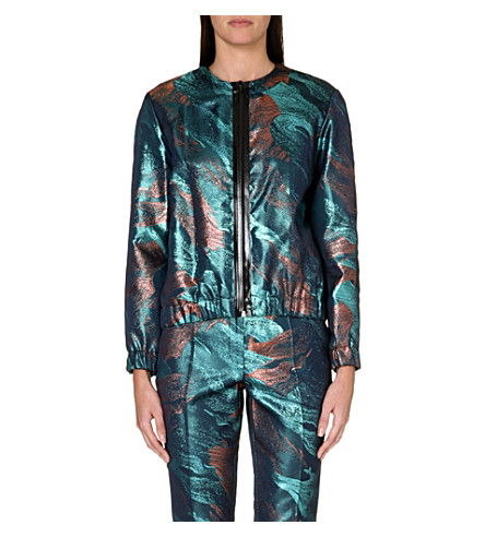 MAJE Metallic jacket (Jacquard