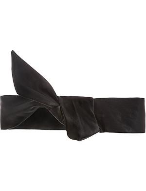 MAJE Lambskin leather elasticated belt