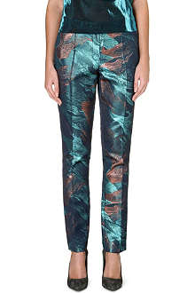 MAJE Metallic trousers