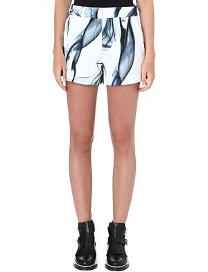 MAJE Printed polyester shorts