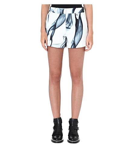 MAJE Printed polyester shorts (Imprime