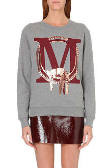 MAJE Metallic cotton sweatshirt