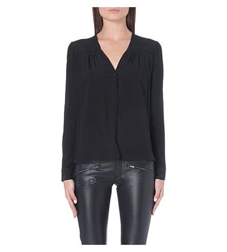 MAJE Gavela crepe shirt (Black