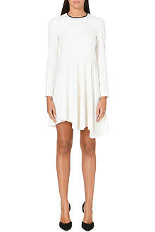 MAJE Gentiane contrast-trim dress