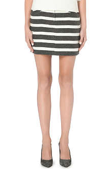 MAJE Unstructured striped skirt
