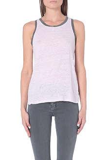 MAJE Marled linen embellished vest