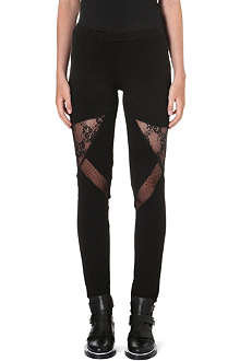 MAJE Lace insert leggings