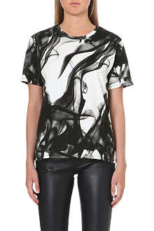MAJE Abstract print t-shirt