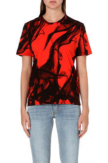 MAJE Cotton printed t-shirt