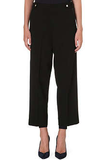 MAJE High-rise cropped trousers