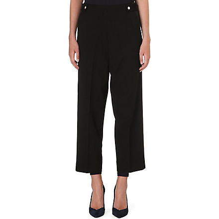 MAJE High-rise cropped trousers (Black