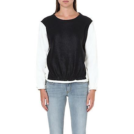 MAJE Two tone sweatshirt (Bicolore