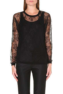MAJE Lace sweat top