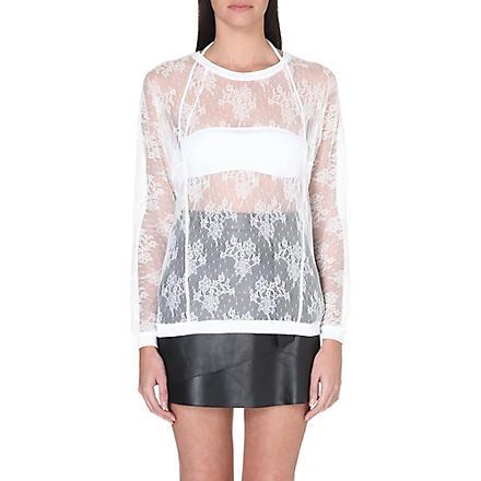 MAJE Lace sweatshirt (Ecru