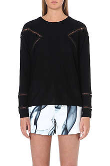 MAJE Fitted lace panel jumper
