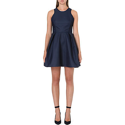 MAJE Fitted racer-back dress (Marine