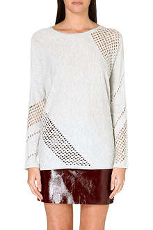 MAJE Gressin perforated jumper
