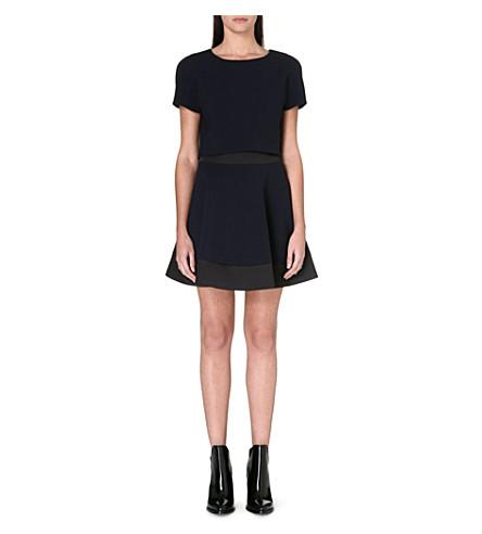 MAJE Crepe optical illusion dress (Nuit