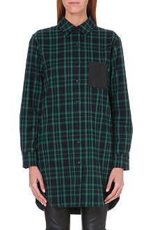 MAJE Check shirt dress