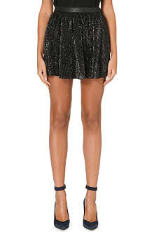 MAJE Guapa sequinned mini skirt