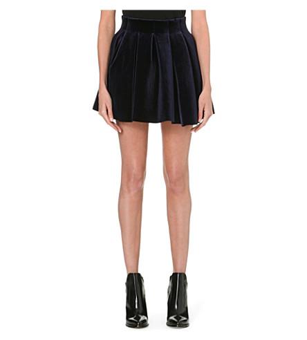 MAJE Gueridon velvet skirt (Nuit