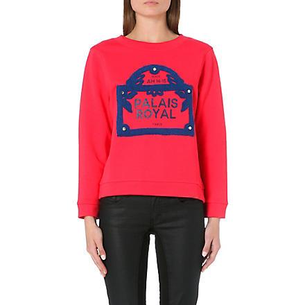 MAJE Embroidered sweatshirt (Framboise