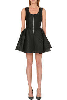 MAJE Perforated neoprene dress